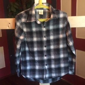 Child's Rustic Blue flannel shirt
